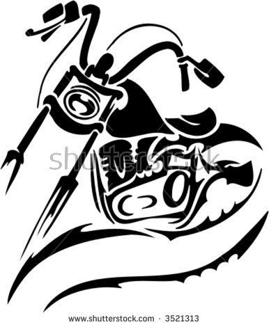 Tribal Motorcycle Tattoo Designs Motorcycle Tattoos Biker Art Motorcycle Illustration