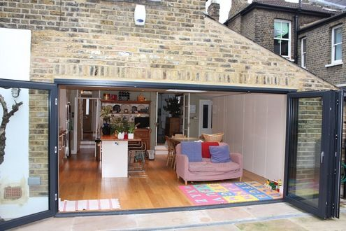 Simple Kitchen Extension simple side infill home extension on the back of a london