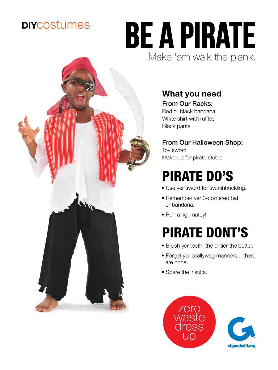 SF Goodwill DIY Halloween Costume- Swashbuckling Pirate #Goodwill ...