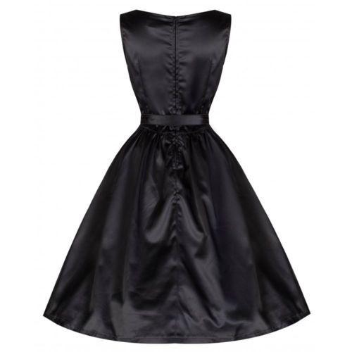 Lindy-Bop-retro-vintage-50-S-AUDREY-noir-Satin-Cocktail-Swing-Robe-20
