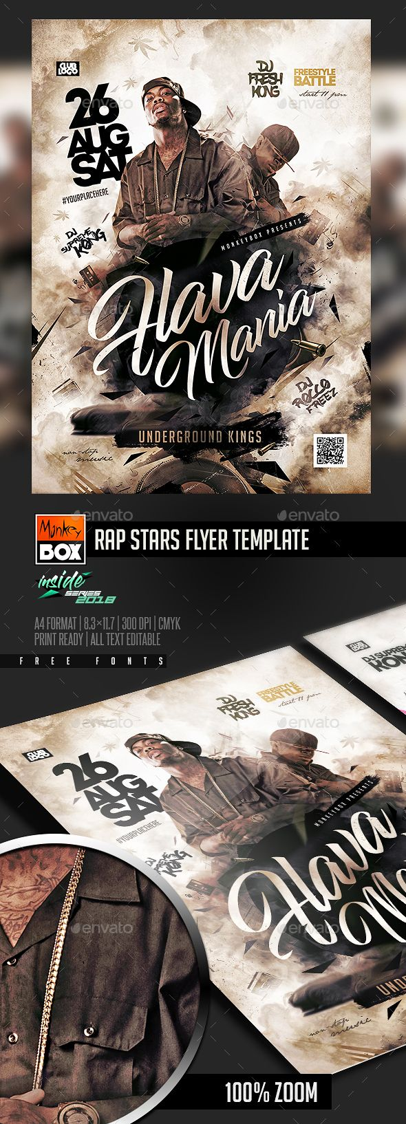 rap stars flyer template psd download flyer templates pinterest