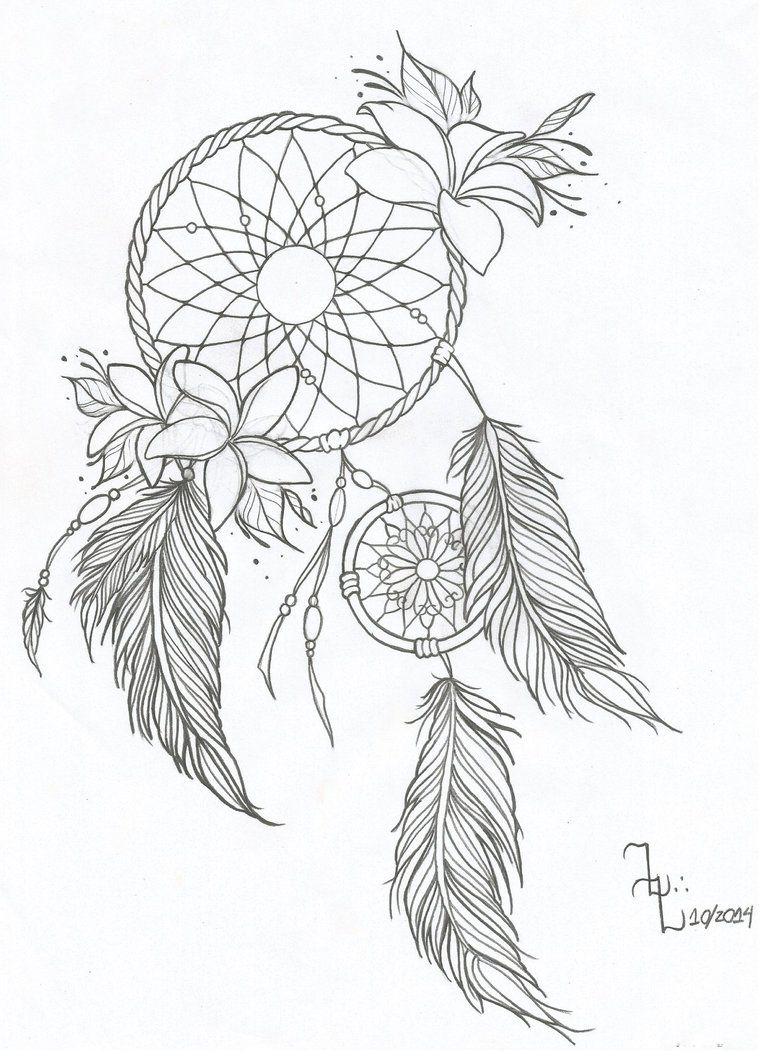 Dream Catcher Tattoo With Children's Names : dream, catcher, tattoo, children's, names, Dreamcatcher, Dream, Drawing,