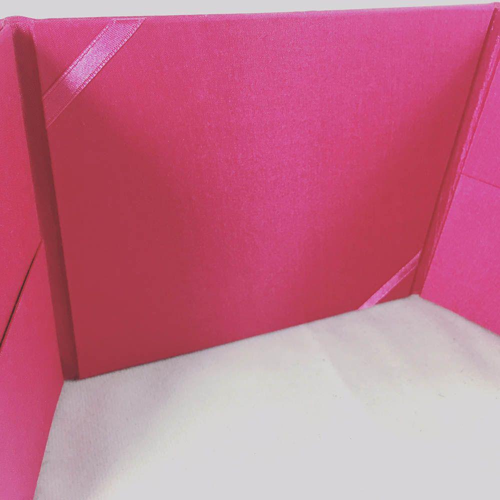 Deep Pink Pocket Folder With Golden Pearl Crown Brooch Embellishment ...