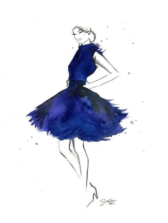 gorgeous fashion illustration by Jessica Durrant | Bleu ...