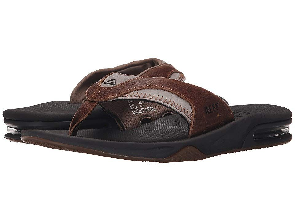 b4414f0d0a2e Reef Fanning Leather (Brown Brown 2) Men s Sandals. The classic Fanning  silhouette