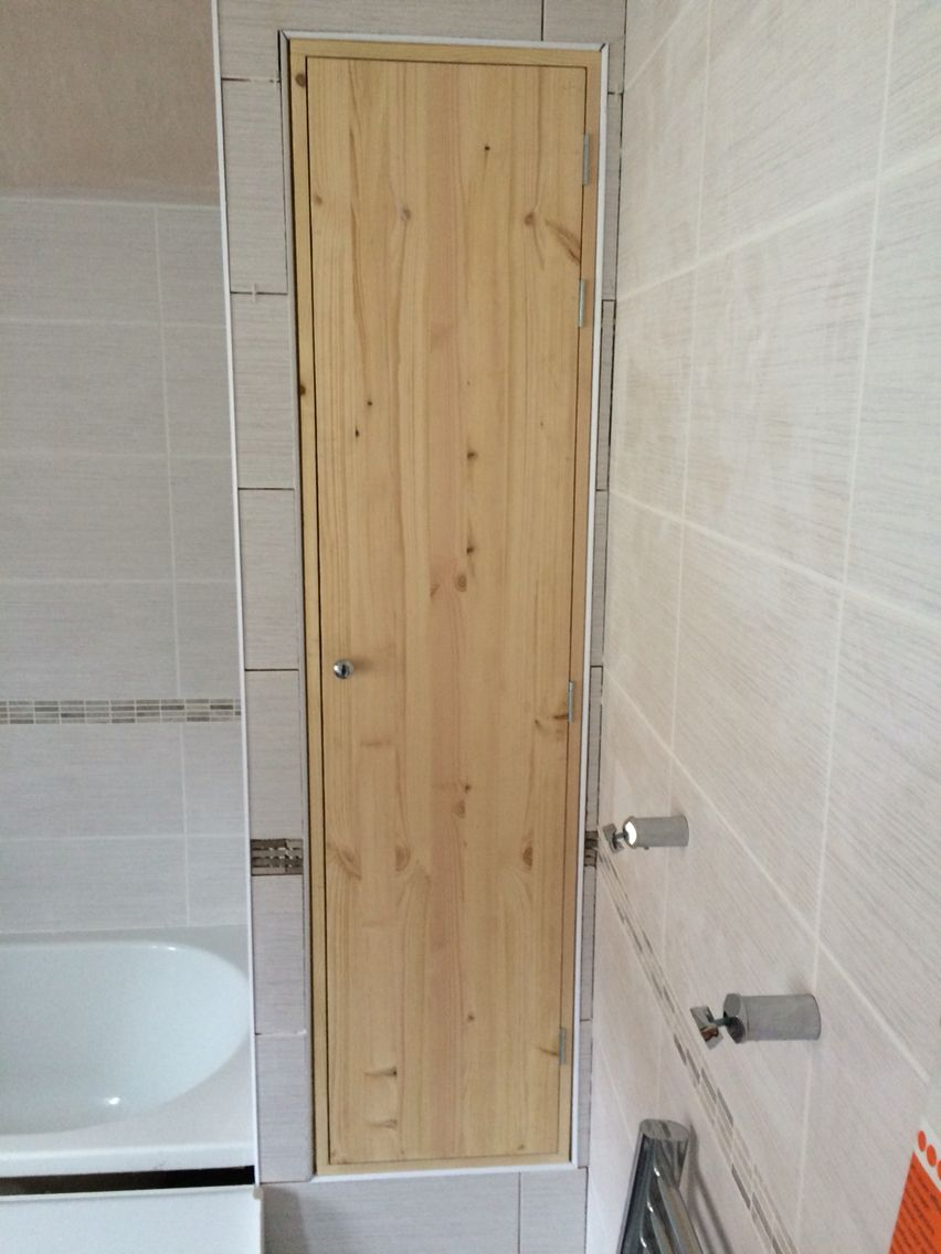 Bathroom built in storage unit
