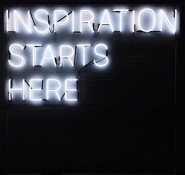 Exceptionnel Inspiration starts here | neon | FRASES INSPIRADORAS | Pinterest DQ82