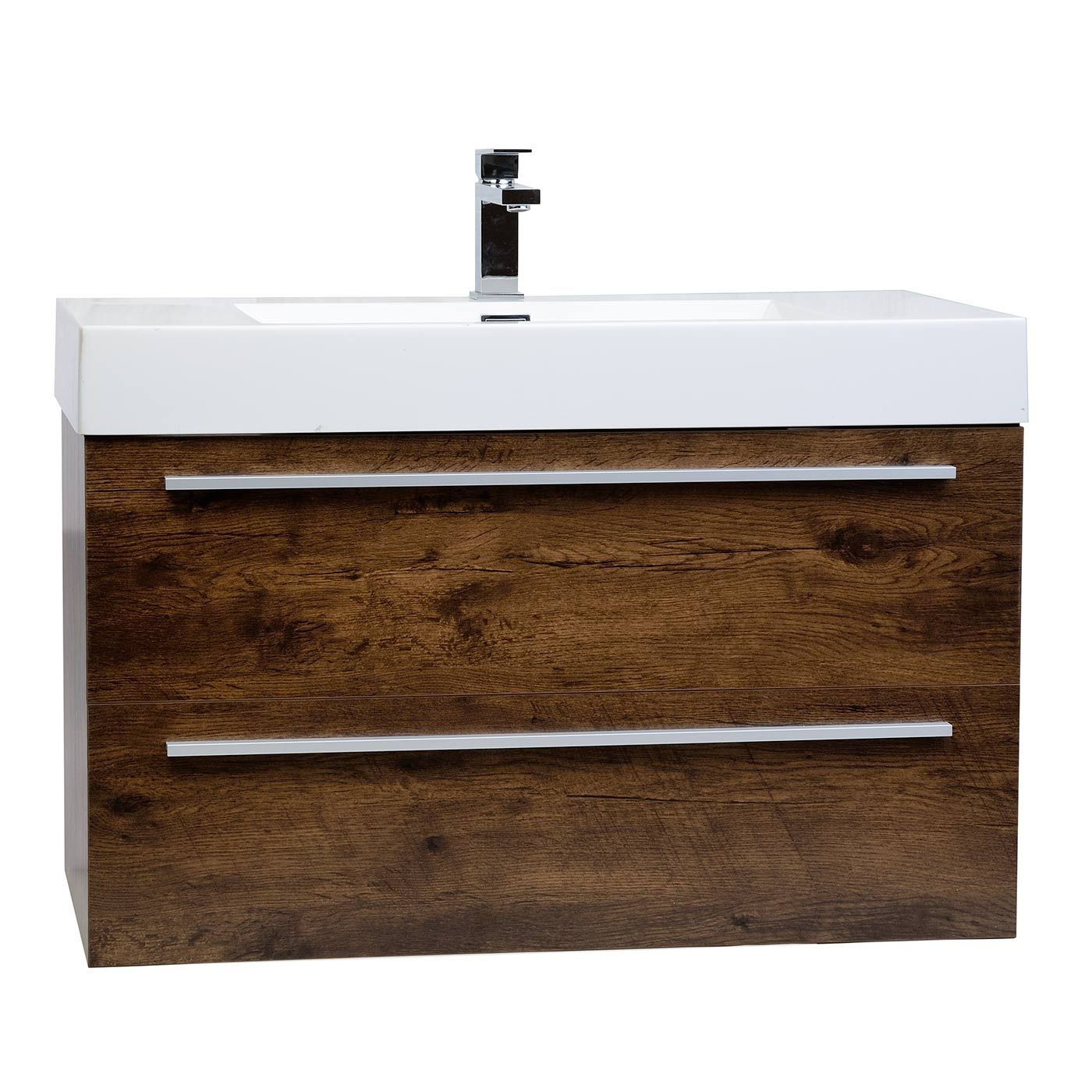 "355"" Wallmount Contemporary Bathroom Vanity Rosewood Tnm900Rw Adorable Modern Bathroom Vanity 2018"
