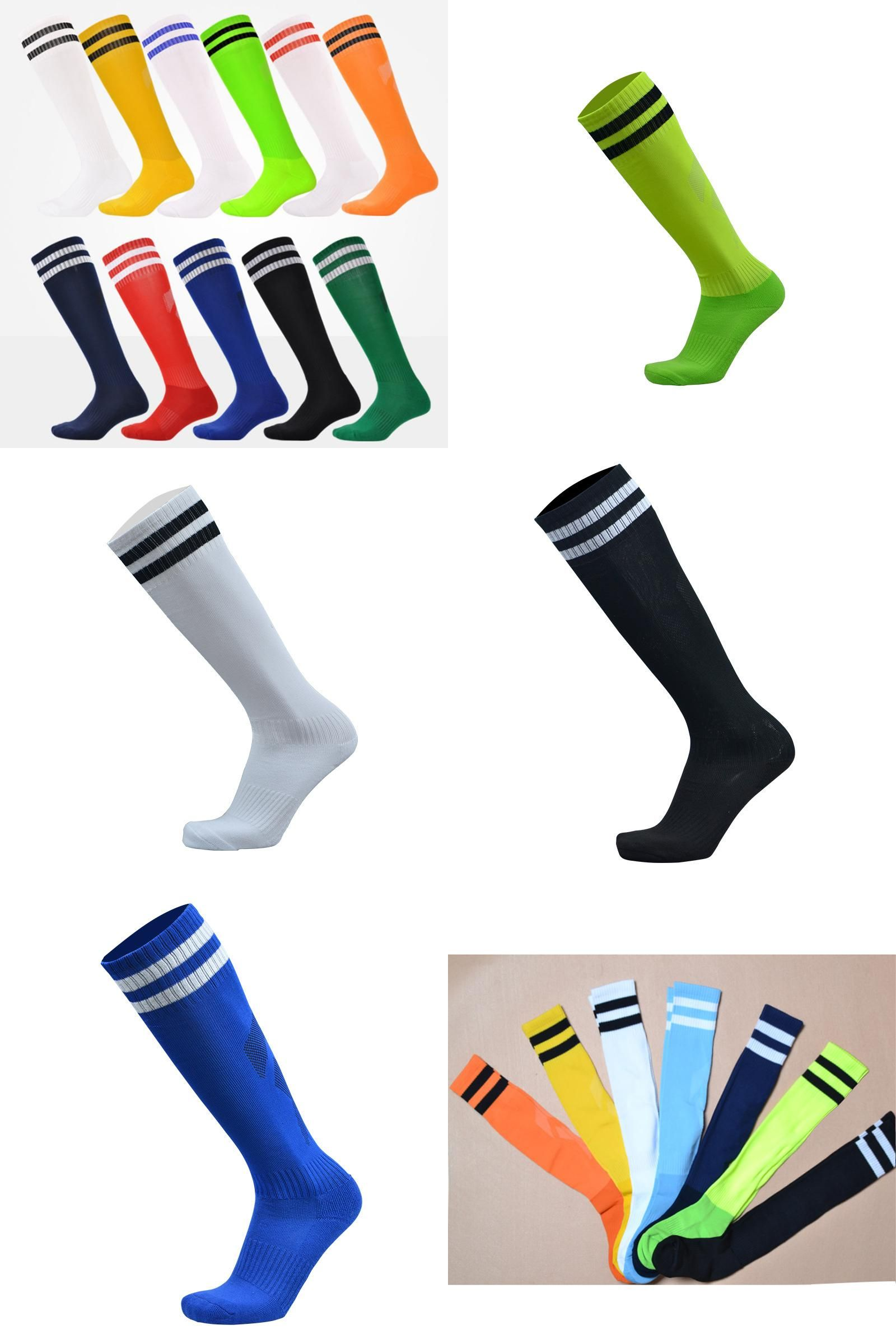 [Visit to Buy] 1pair Top Quality Football Socks Polyester