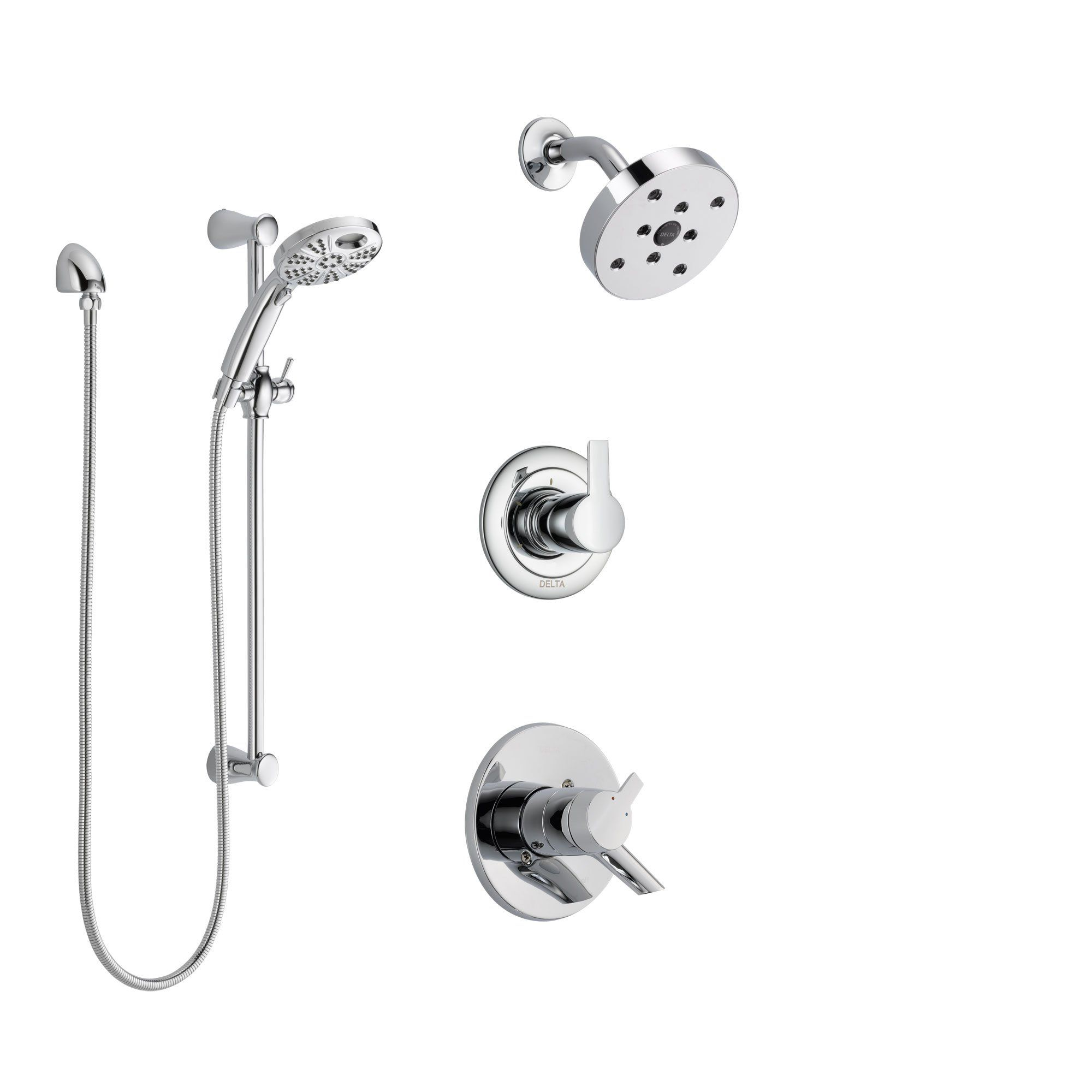 Delta Addison Chrome Shower Faucet System W Showerhead And Hand