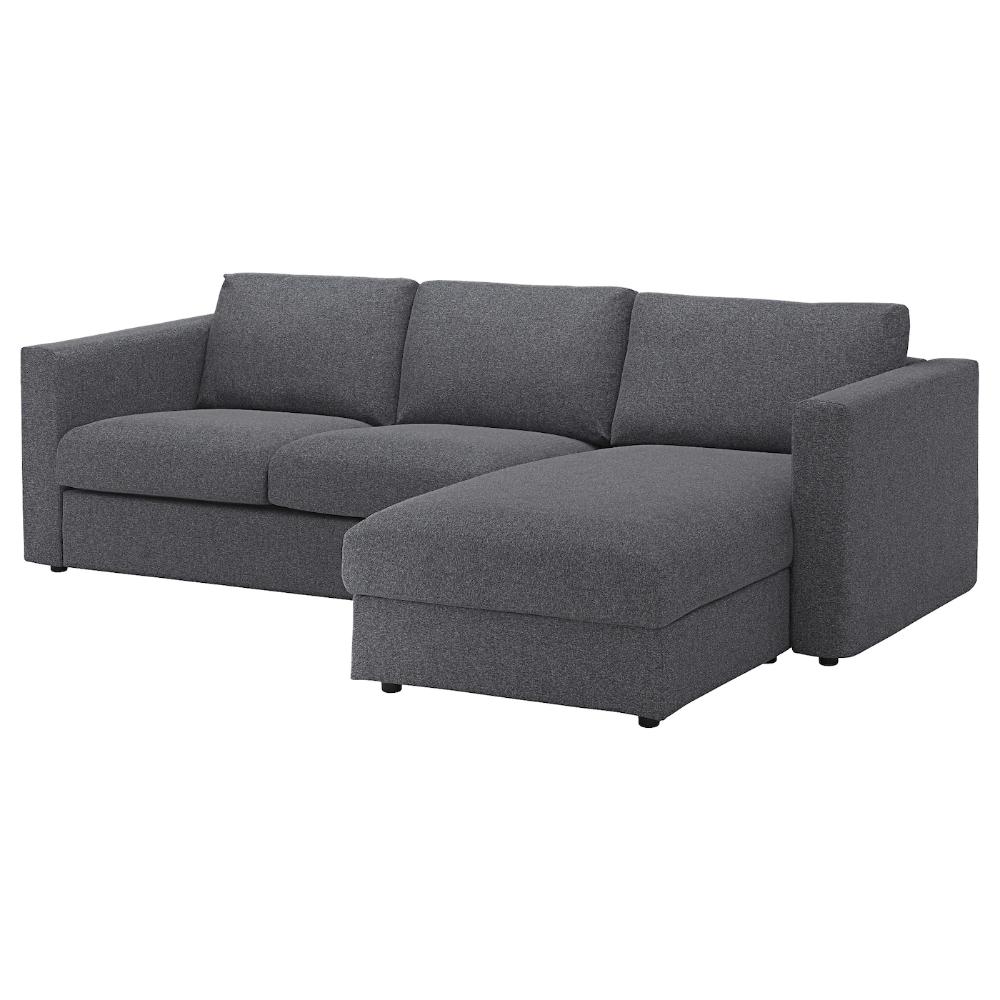 Finnala Sofa With Chaise Gunnared Medium Gray In 2020 Modular