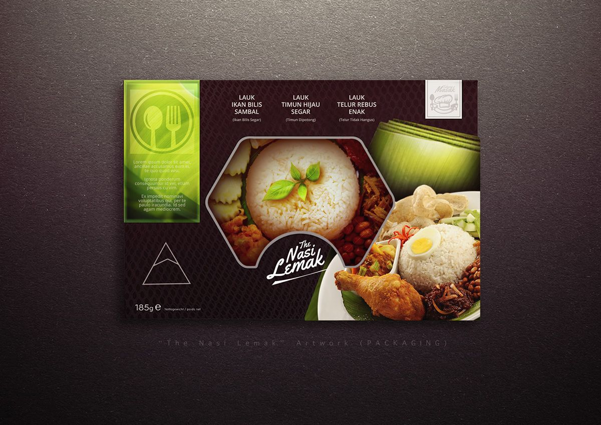 Packaging Design Nasi Lemak on Behance Nasi lemak