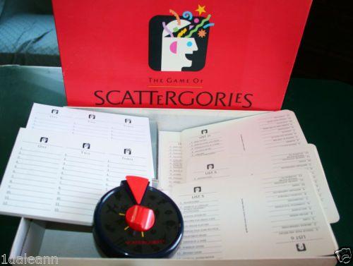 Original 1988 Scattergories Board Game Vintage Milton Bradley 100 Complete Ebay Scattergories Board Games Games