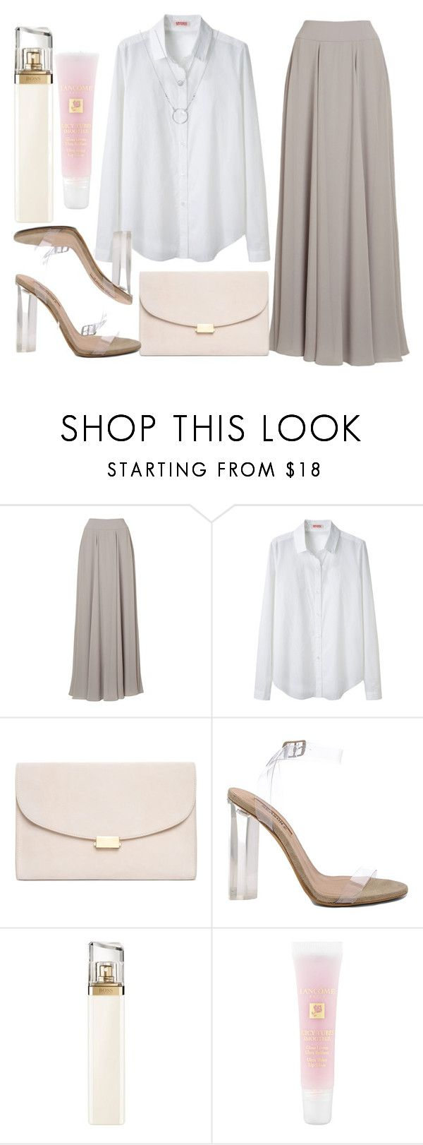 """""""Freestyle"""" by hiddensoulmemories ❤ liked on Polyvore featuring Jacques Vert, Organic by John Patrick, Mansur Gavriel, adidas, HUGO and Lancôme"""