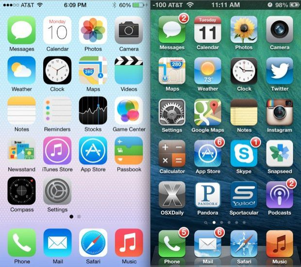 The pros, cons, and future of flat design Ios 7, Ios 8