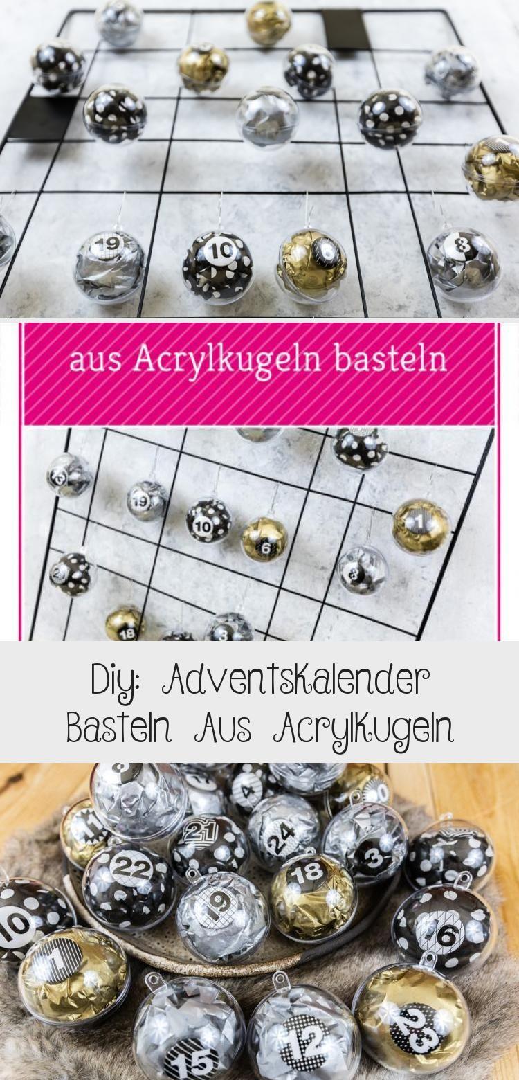 DIY Adventskalender basteln aus Acrylkugeln: diesen Adventskalender zum selber m…