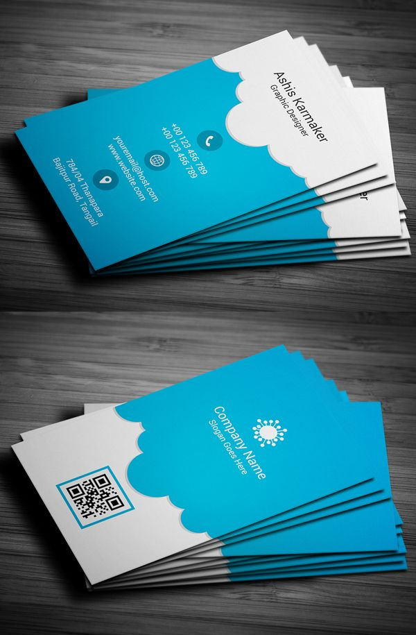 Cloudy Business Card | Business Cards Design | Pinterest | Business ...