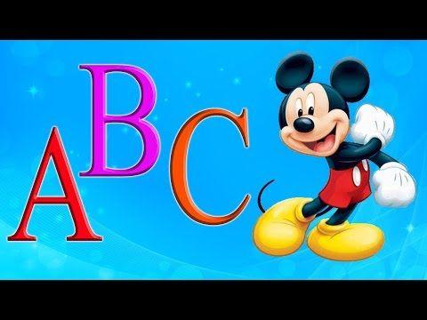 Abecedario En Español Para Niños Cancion Abc De Las Letras Aprender Alfabeto Espanol Disney Characters Learning Spanish Pluto The Dog