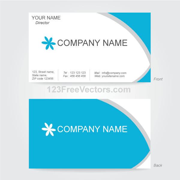 Vector Business Card Design Template Free Vectors Pinterest - Free business card design templates