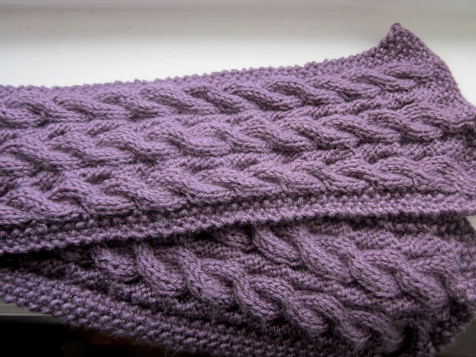 Reversible Cable Scarf #50368 by Lion Brand Yarn | knit & crochet ...