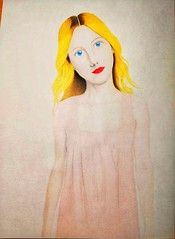Girl Portrait of Colored Pencil Drawing   Please follow me  Please make a favorite #coloredpencil#coloredpencils#drawing #coloredpencildraw#analogdrawing#analog#drawingart#analogart#art#brown#brownhair#blonde#blondehair#fair#fairhair#blue# #SmartNotebook #Reusable