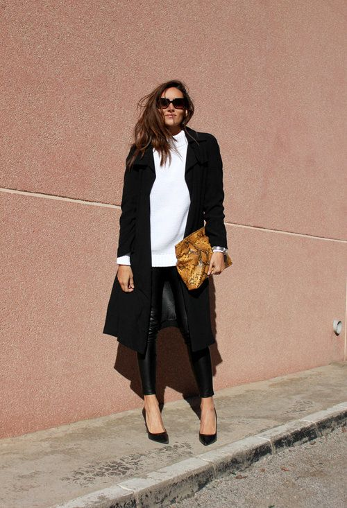 """BLACK COAT - """"Outfit ideas, by Chicisimo"""" Fashion iPhone app"""