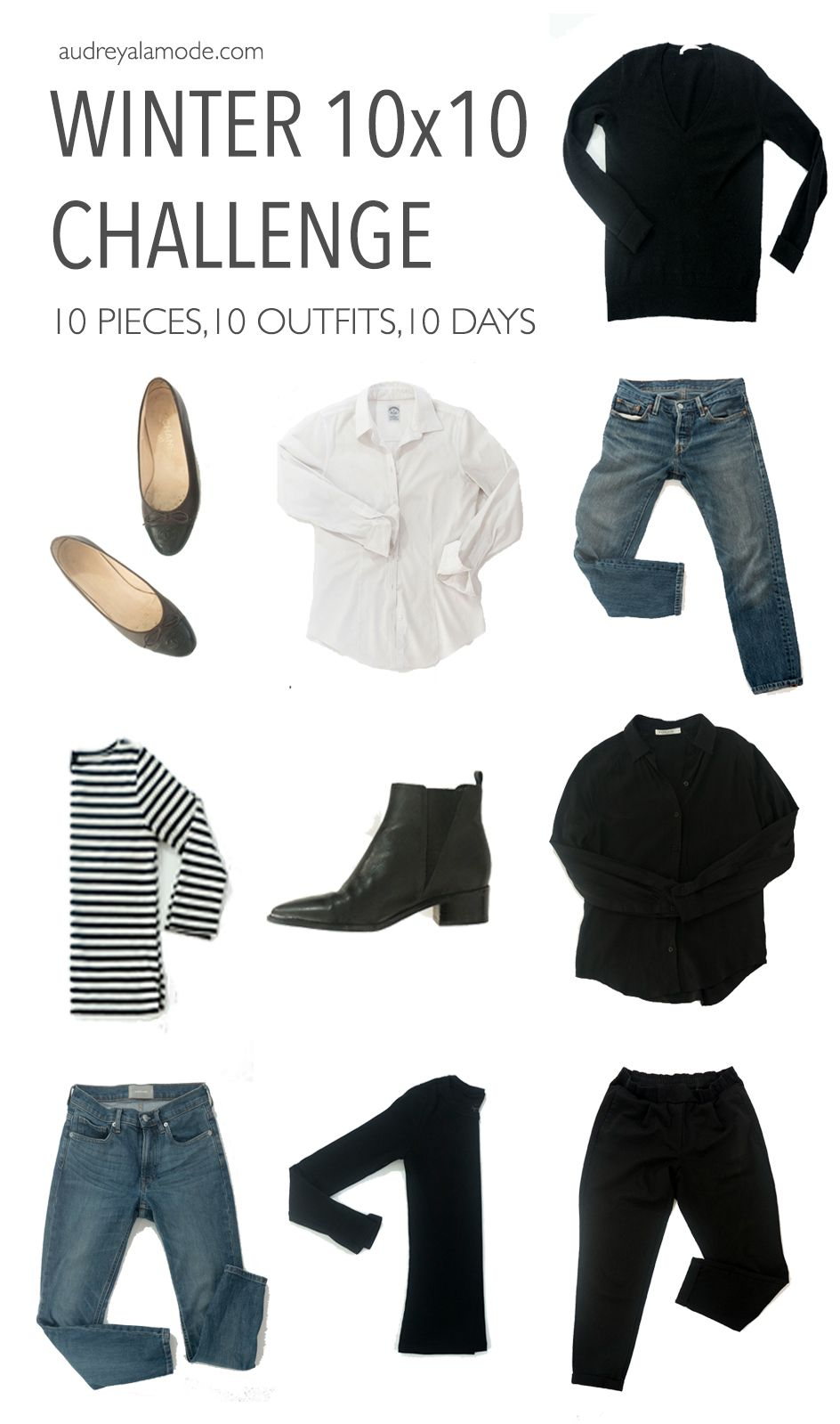 10 Piece Basic Wardrobe Challenge Fashion Wardrobe Basics 10 Piece Wardrobe