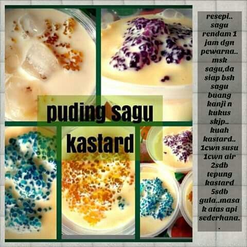 Puding Sagu Recipes Food Breakfast