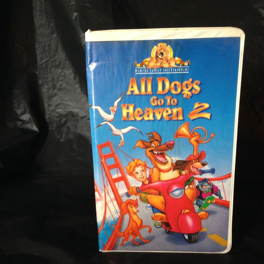 All Dogs Go To Heaven 2 Vhs 1996 Mgm Ua Clam Shell Childrens