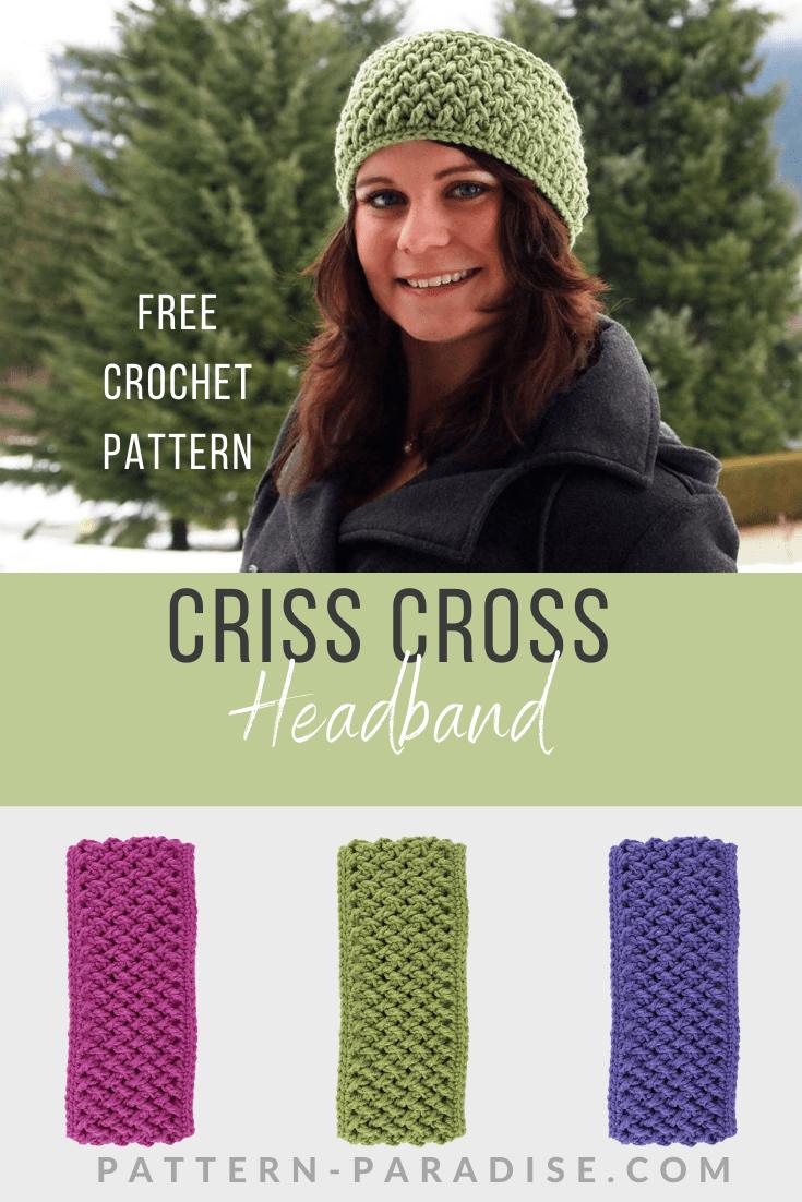 Free Crochet Pattern: Wide Criss Cross Headband | Pattern Paradise
