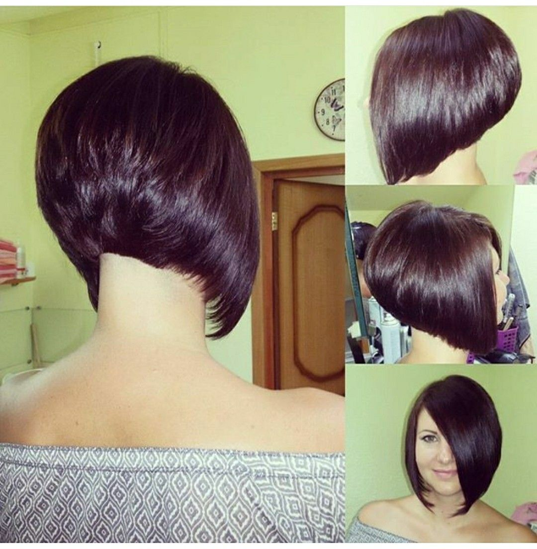 Stacked Bob Hairstyle Adorable Pinbetty Santiago On Hair Cut  Pinterest  Hair Cuts