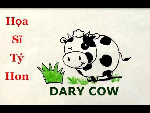 Cách vẽ con bò
