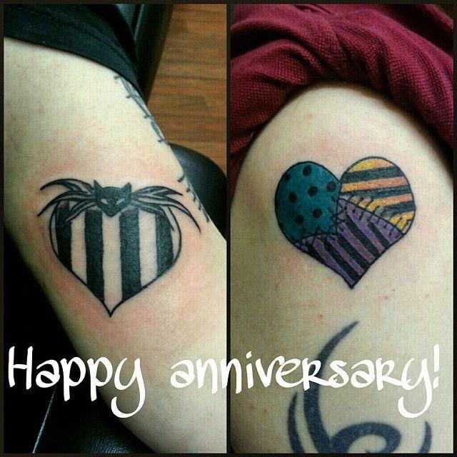c8b2913c8 Jack and Sally matching tattoo | Tattoo ideas | Christmas tattoo ...