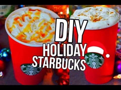 DIY Holiday Starbucks Drinks : Carmel Brûlée & Gingerbread Latte 2015! Nichole Jacklyne - YouTube