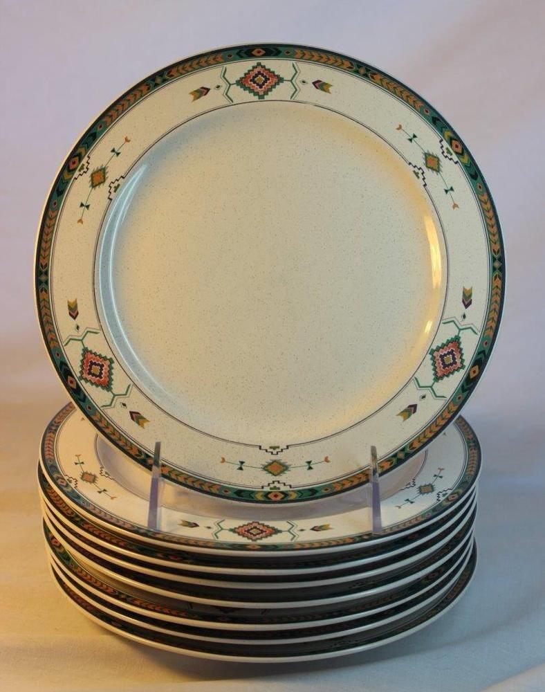 8 Studio Nova Adirondack Mikasa Salad Plates 8 1 4 Inch Southwest