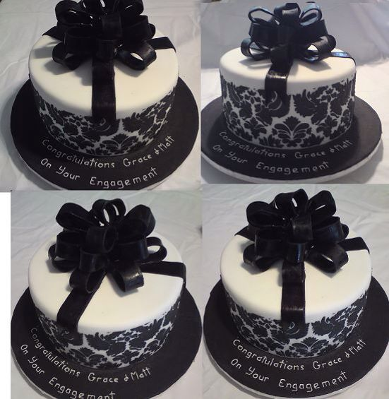 Single Layer Black Lace Cake Damask Cake Gift Cake Cake Lace