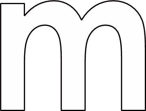 kleurplaat letter m kleurplaten alfabet letters letteren