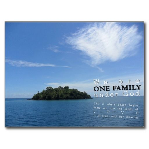 We are Family under God Postcard