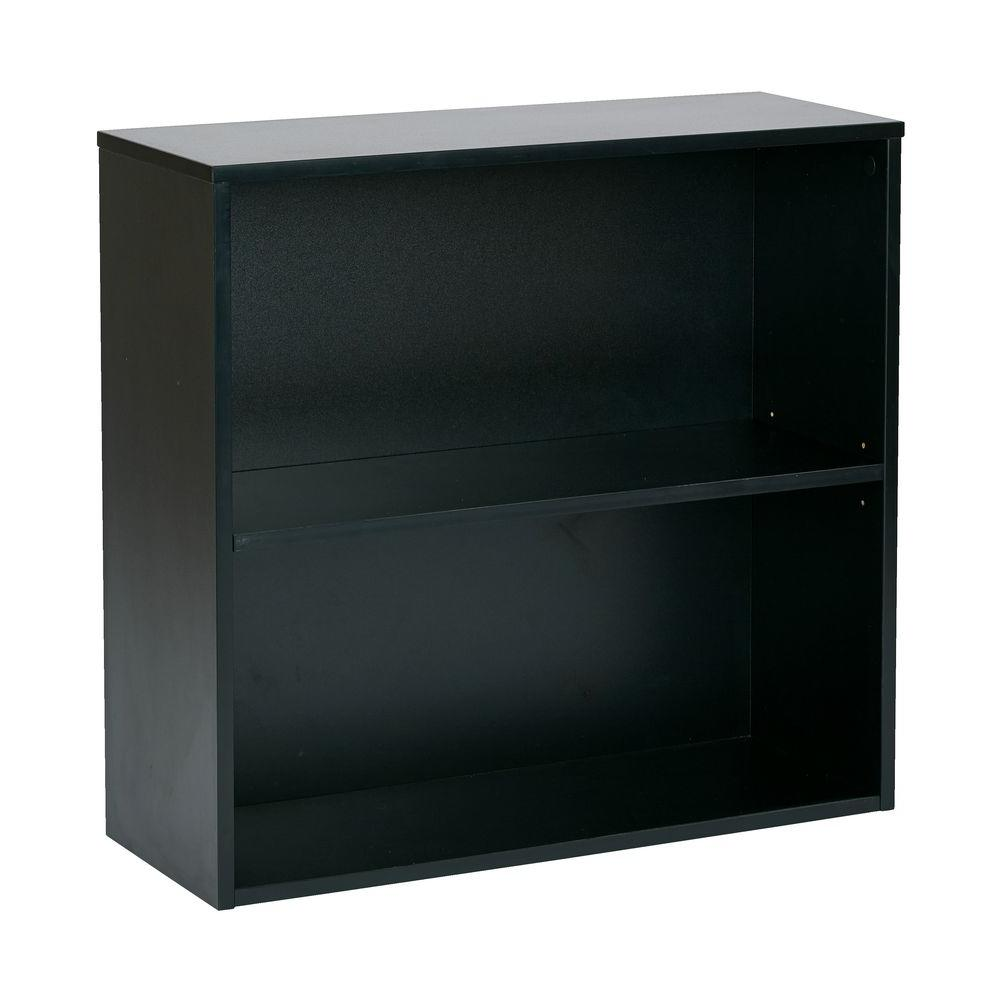 Office Star Products Prado Black Open Bookcase Prd3230 Blk