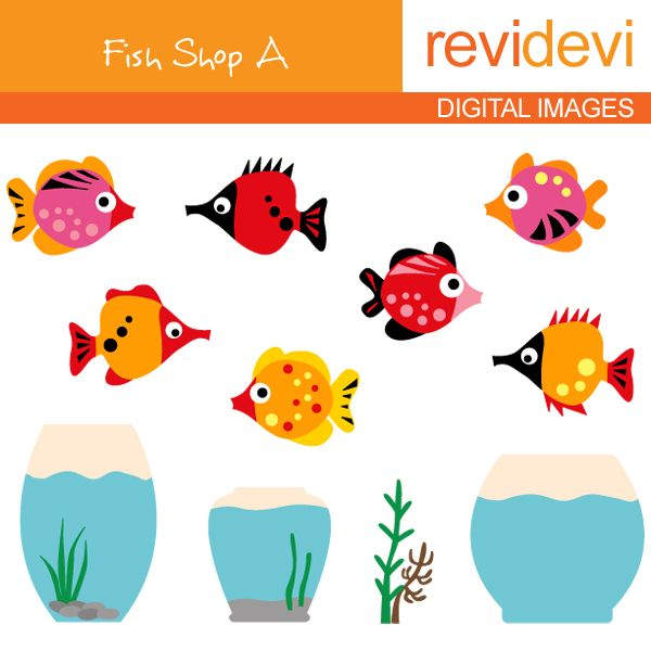 Fish Shop A - Cliparts - Mygrafico.com | All things peces | Pinterest