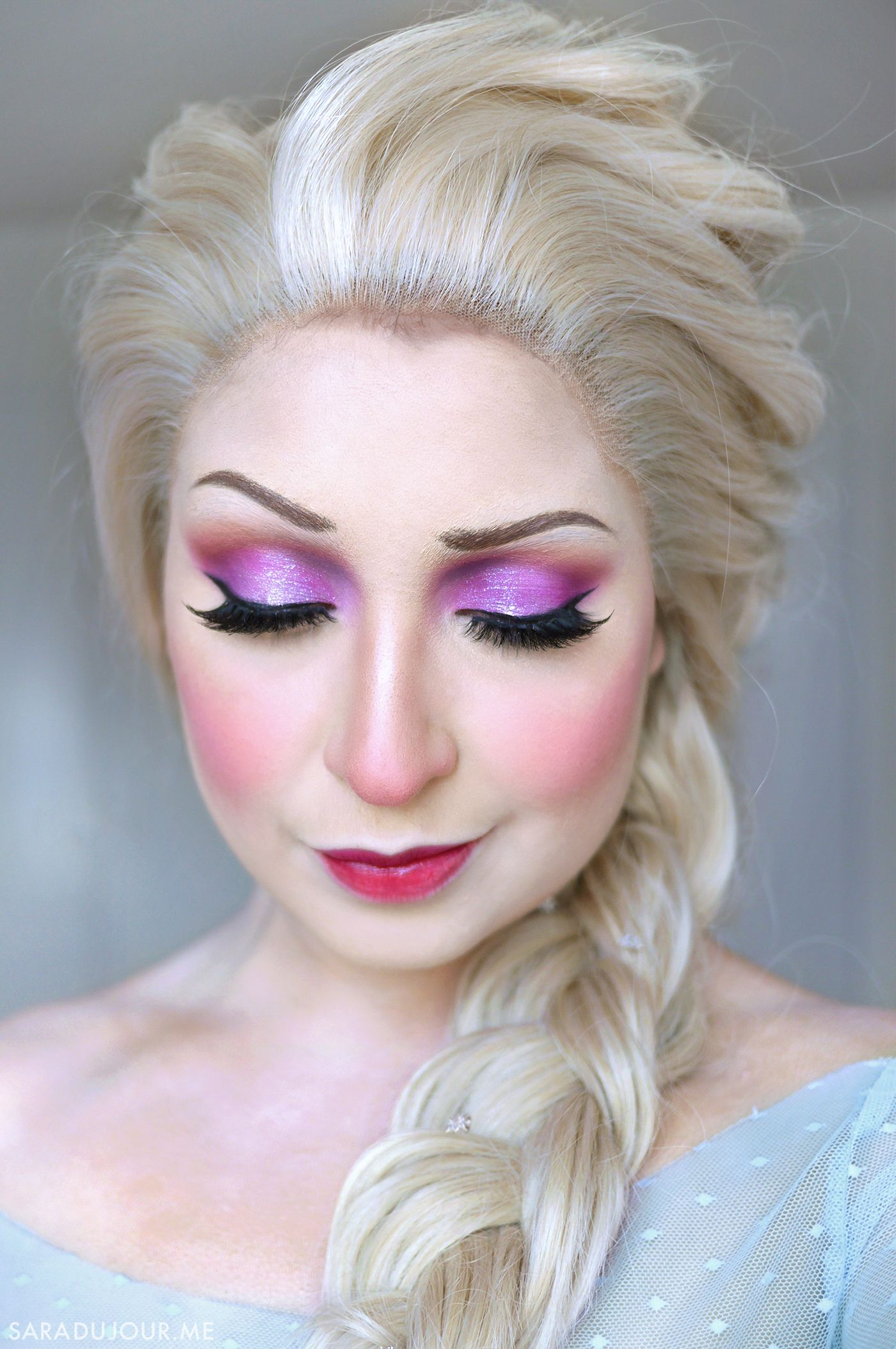 Elsa Frozen Cosplay Makeup Sara Du Jour Disney Inspired Makeup Princess Makeup Disney Princess Makeup