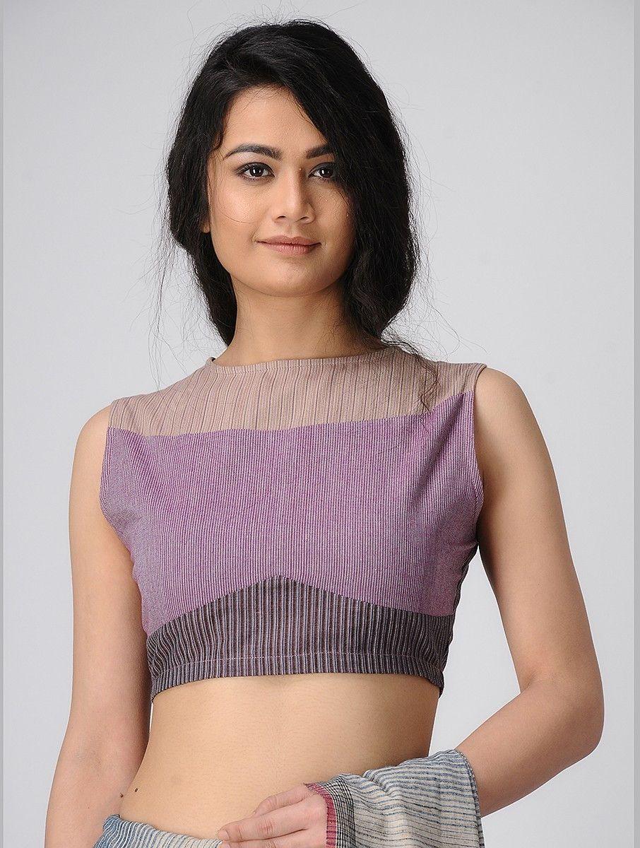 01c10bb72f1027 Buy Purple Handloom Cotton Blouse SALE shop child products Online at Jaypore .com