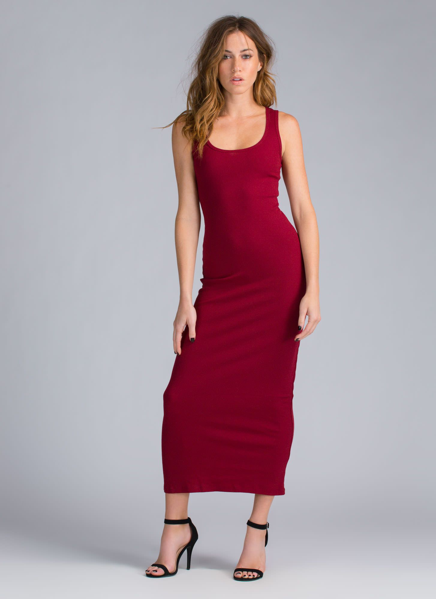 Bring on the basic ribbed maxi dress in casual dresses