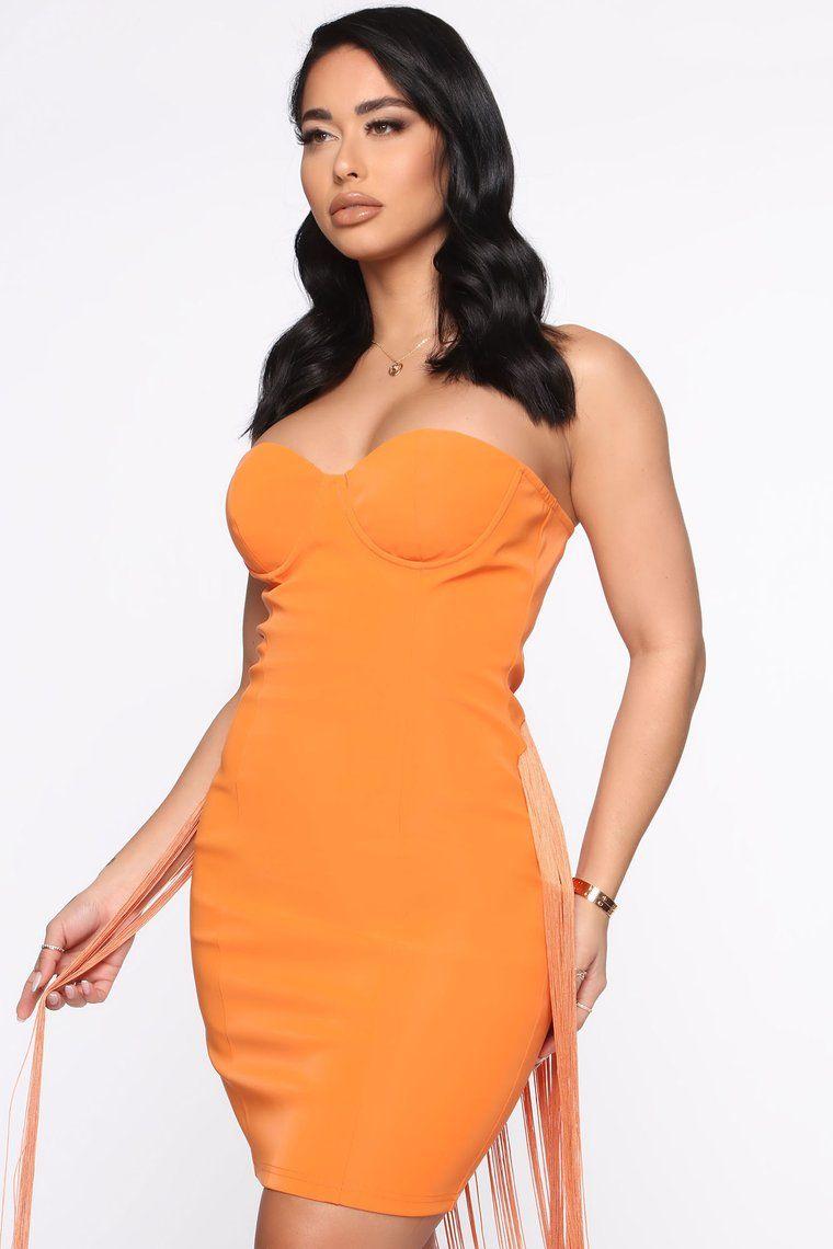 Flawless Fringe Pu Mini Dress Orange Mini Dress Dresses Tube Dress [ 1140 x 760 Pixel ]