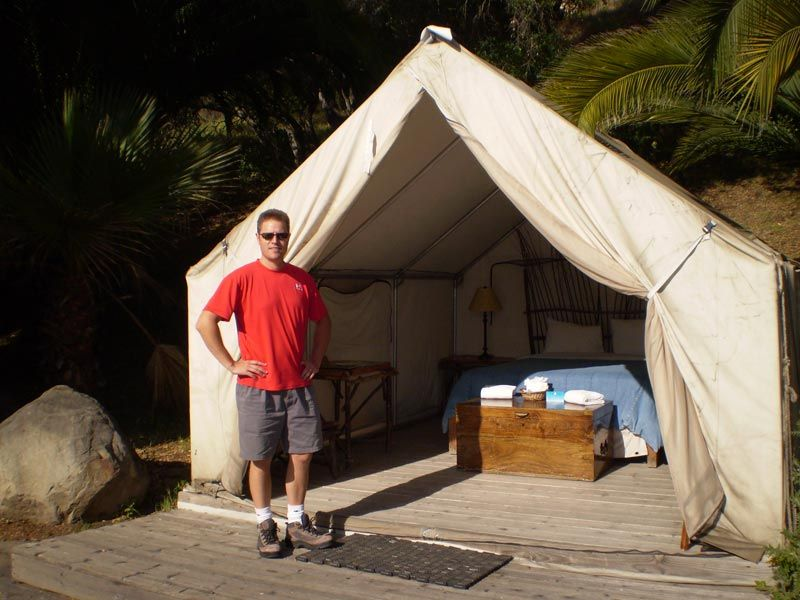 El Capitan Canyon Is An Exclusive Campground Located West Of Santa Barbara Off Highway 1