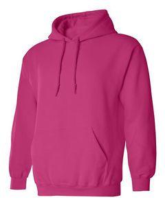 Hooded Plain Fushia Hot Pink Sweatshirt Men Women Pullover Hoodie ...