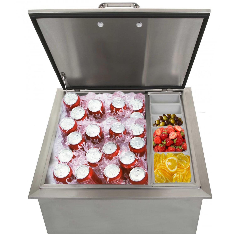 Kingston Series 25 Inch Drop In Ice Bin Cooler With Condiment Holder Outdoor Kitchen Outdoor Kitchen Bars Outdoor Kitchen Design Layout