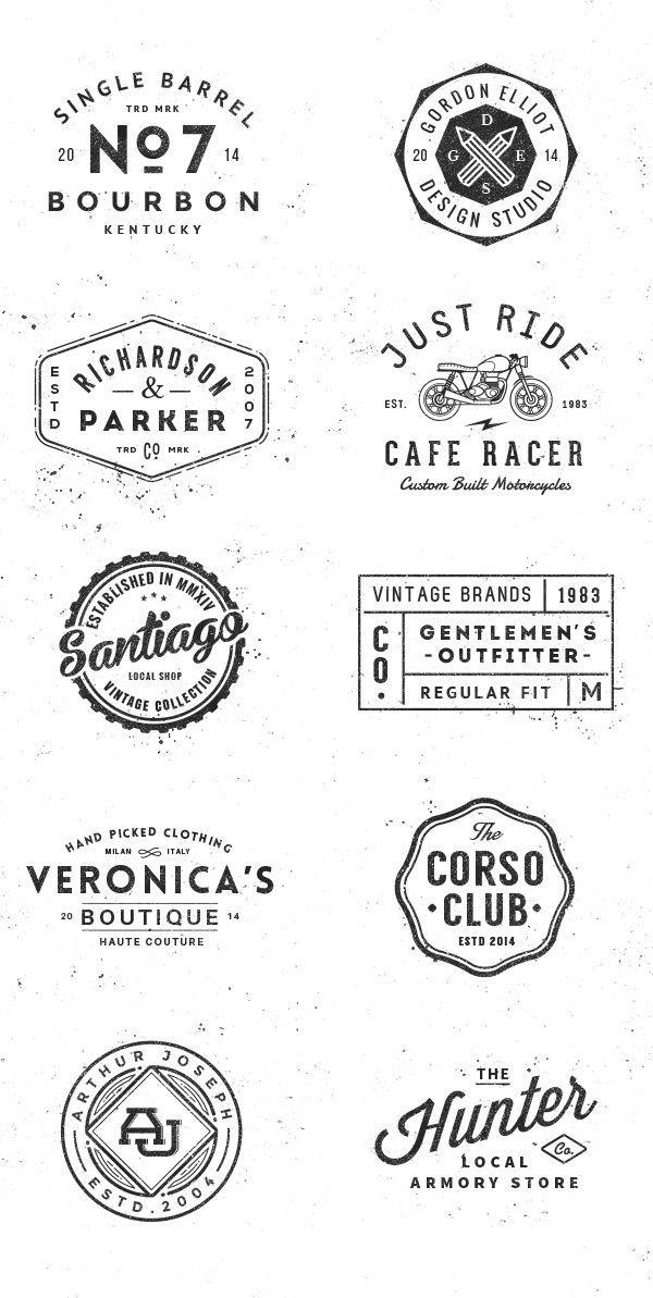 Logo/Badge Templates Vol1 on Behance Design Resources Pinterest - hipster logo template