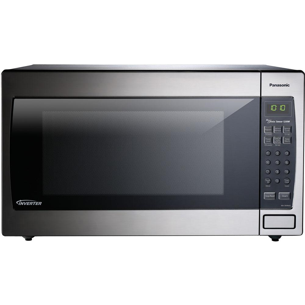 Panasonic 2 2 Cu Ft Countertop Microwave Oven In Stainless Steel