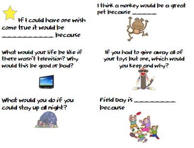 ideas creative writing first grade